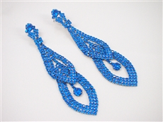 WHOLESALE FASHION RHINESTONE EARRINGS 2A8E3544BLUE