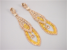 WHOLESALE FASHION RHINESTONE EARRINGS 2A8E3544GDYEL