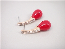 WHOLESALE FASHION EARRINGS 3E22993RED