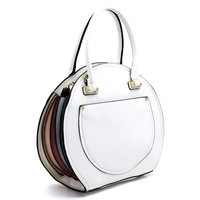 WHOLESALE DESIGNER INSPIRED PURSE HANDBAG AB8023 WHT