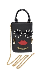 WHOLESALE DESIGNER INSPIRED CROSS-BODY HPC3049 BLK