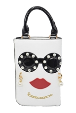 WHOLESALE DESIGNER INSPIRED CROSS-BODY HPC3049 WHT
