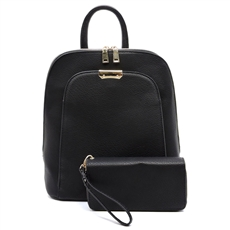 WHOLESALE DESIGNER INSPIRED BACKPACK LF17193 BLK