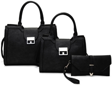 WHOLESALE DESIGNER INSPIRED HANDBAG LF2083 BLK