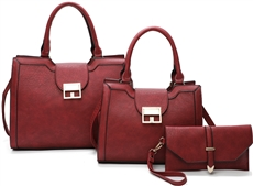 WHOLESALE DESIGNER INSPIRED HANDBAG LF2083 BURG