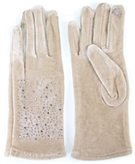 WHOLESALE FASHION GLOVES LOG061 BEI