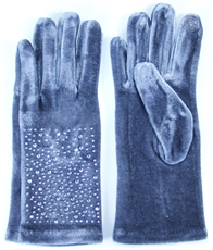 WHOLESALE FASHION GLOVES LOG061 GREY