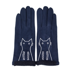 WHOLESALE FASHION GLOVES LOG101 NVY