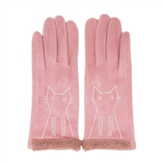 WHOLESALE FASHION GLOVES LOG101 PINK