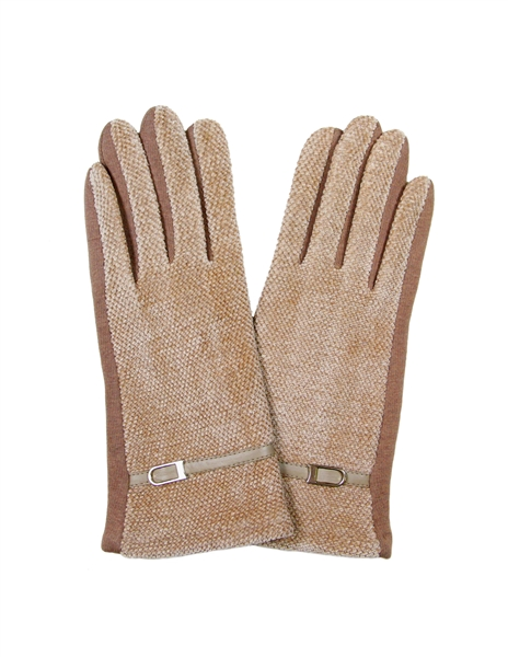 WHOLESALE FASHION GLOVES LOG103 BEI