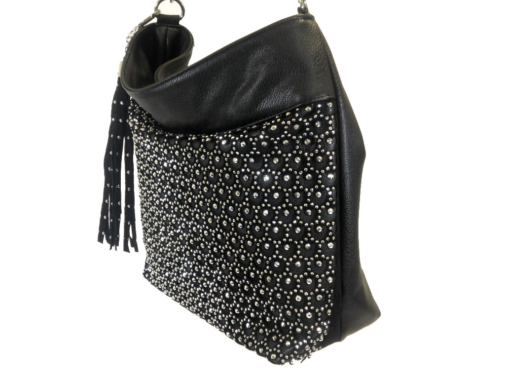 10f156c63f WHOLESALE STUDED AND RHINESTONE PURSE HANDBAG 3474-BLACK