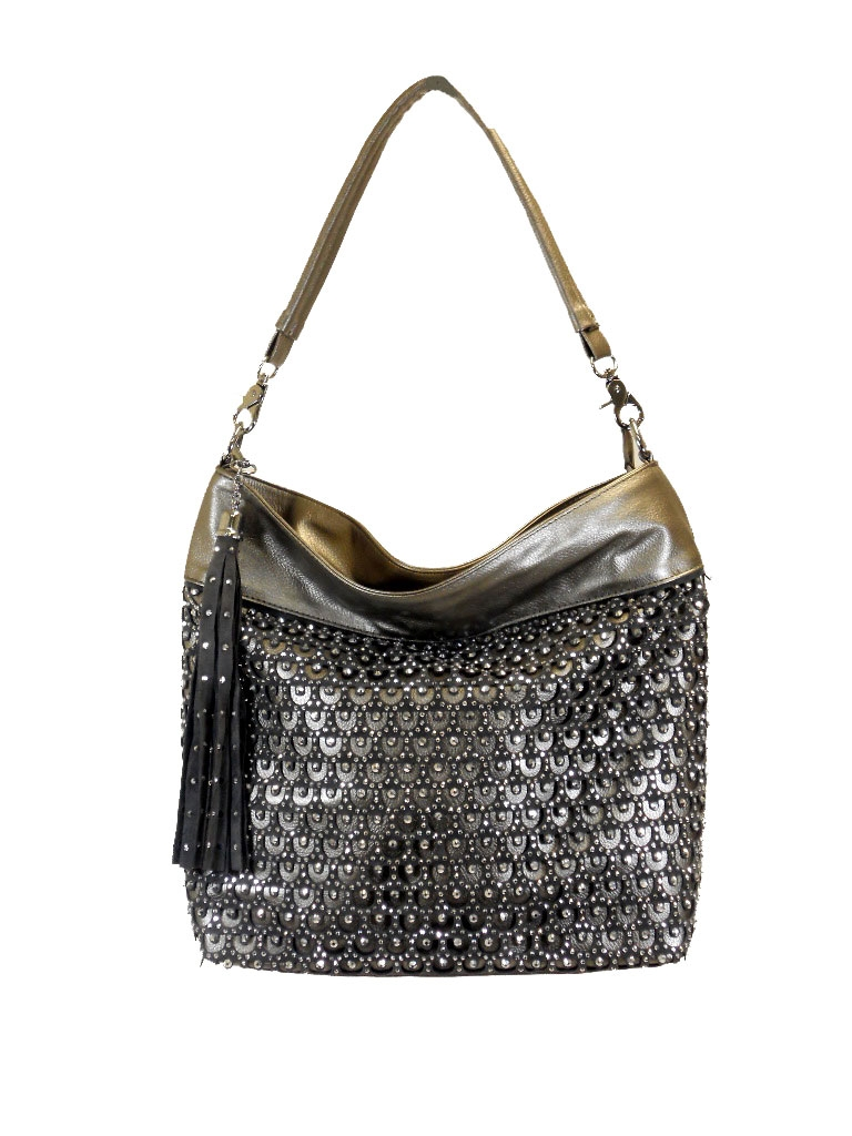 e3ab8dd2b5 wholesale studed and rhinestone purse handbag 3474-grey